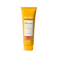 NATURIA-Pure-Body-Wash-Honey-&-White-Lily-100ml
